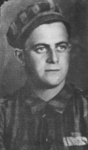 Jacob in 1945, post-liberation.  Jacob had this picture taken in his Waldenburg Concentration Camp uniform shortly after liberation prior to discarding it.