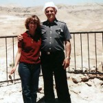 Susan Spitz Hennenberg and Jacob Hennenberg in Israel for the Gathering of Holocaust Survivors, 1981