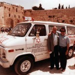 Jacob and Michael Hennenberg pictured in Israel during the 1989 Gathering of Holocaust Survivors.
