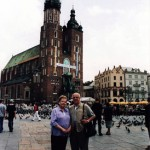 Jacob and Hildegard Hennenberg during their visit to Krakow, Poland.