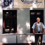 Jacob Hennenberg pictured outside the Jewish Center, Oswiecim, Poland, in 2000.