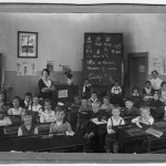 Hildegard Hennenberg's (nee Hohnleitner) first grade class. Hildegard is pictured in the second row from the back, left side.