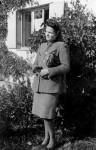 1945. Hilde in front of her childhood home in Munich.