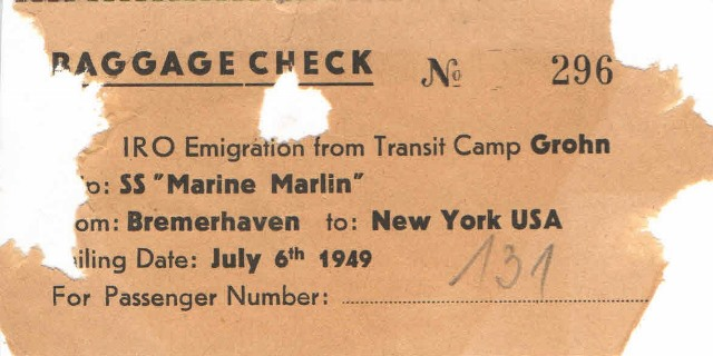 1949 Marine Marlin July 6 sailing date