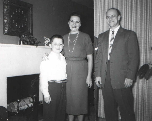1950s Michael, Hildegard, and Jacob Hennenberg in their Tullamore Road, Cleveland Heights, Ohio, home.