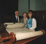 1996 Julie Bat Mitzvah Torah survived Holocaust in Czechoslovakia and was brought from England to USA by Mr. Rosenthal (640x618)