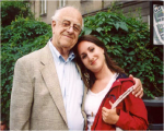 2003Jacob Hennenberg and granddaughter Julie, Krakow, 2003
