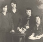 L to R Cousin Sabina, Cousin Unknown, Cousin Ita, Sister Ita