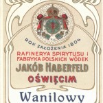Label of one of the oldest factories in Oswiecim.