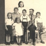 Hilde and her siblings and father