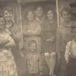 Karola, aunt Ita, In the window Sister Ita, Aunt Mala, Cousin Sabina, Below Bubek aka Eliezer Bochner, Aunt and Uncle Korngold and Chaim Korngold