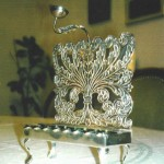 Menorah designed and made by Rabbi Schlomele Bochner, Jacob's great-great-great-Grandfather