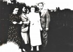 Sisters Anna Karola Ita Sabina and husband Jacob c1937