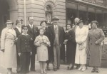Krynica, Poland c 1937. Zita Plaut second from left, Uncle Isaac from Colon third from left, cousin Ruzia front row second from left