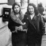 1930s, Oswiecim. Cousin Ita Kirshner-Bochner with her friend.