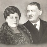 father's brother. Uncle Abe Eliezer Hennenberg and wife Taubicia nee Holender, Zita's parents