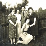 sisters and husband Jacob c1937