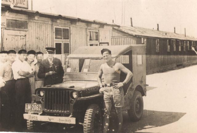 UN RRA truck. Jacob at right.