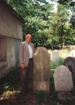 Elemelech Bochner stone. Stands next to Solomon Bochner Ohel in Chrzanow. Picture taken in 1993