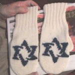 After the war, Jacob had a woman in Germany make him these mittens.His desire to have the Star of David on them reveals that he did not abandon his Jewish faith and what his father taught him